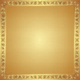Golden background. With ornaments and copy space Stock Images