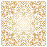 Golden background in the shape of a flower.Vintage decorative elements.Oriental Royalty Free Stock Image