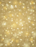 Golden background with snowflakes, vector. Illustration Stock Image