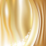 Golden Background With Stars Stock Photos