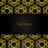 Golden background with symmetrical ornament Royalty Free Stock Photo