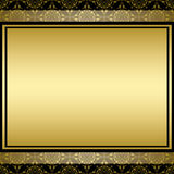 Golden background on vintage pattern - vector Royalty Free Stock Image