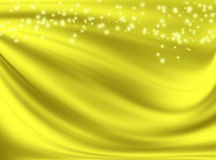Golden background with waves. Abstract golden background with wavy lines and spots Stock Photo