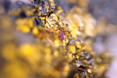 Golden background for You designs macro photo gem Royalty Free Stock Photos