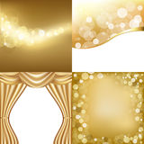 Golden Backgrounds Stock Images