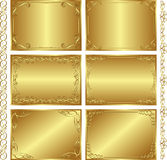 Golden  backgrounds. Set of golden  backgrounds -   illustration Stock Images