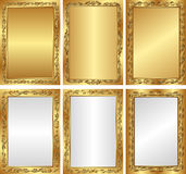 Golden backgrounds. Set of golden and silver backgrounds Royalty Free Stock Photos