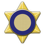 Golden Badge. That can be used for maritime police or police signs in vector illustration