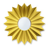 Golden Badge Isolated over background Stock Image