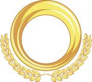 Golden Badge Ornament Stock Images