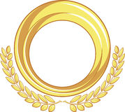 Golden Badge Ornament Stock Images