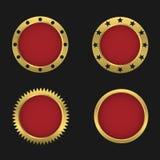 Golden badge set Stock Images