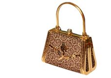 Golden Bag Stock Image