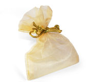 Golden bag Stock Photography