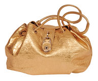 Golden bag Royalty Free Stock Photos