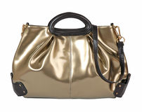 Golden bag Royalty Free Stock Photography