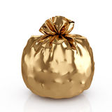 Golden bag Stock Photography