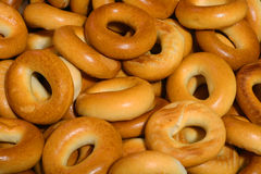 Golden Bagels. Royalty Free Stock Photo