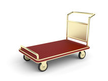 Golden baggage cart Stock Images
