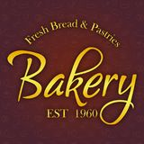 Golden Bakery Fresh Bread & Pastries 1960 Vector Royalty Free Stock Images