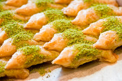 Golden Baklava Royalty Free Stock Photography