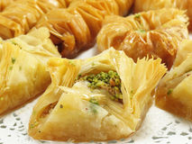 Golden Baklava Royalty Free Stock Photos
