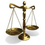 Golden balance. Isolated gold balance on white background Stock Photography