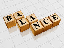 Golden balance Stock Photos