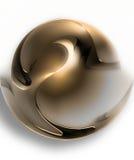 Golden ball vector illustration
