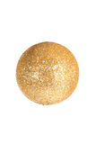 Golden Ball. Sparkling Gold Christmas Tree Bauble Royalty Free Stock Image
