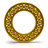Golden ball bearing Stock Photo