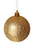 Golden ball of christmas. Stock Images