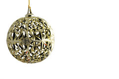 Golden ball of christmas Royalty Free Stock Images