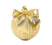 Golden ball for the Christmas tree. Royalty Free Stock Image