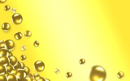 Gold balls 3D. royalty free stock images