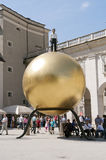 The golden ball. Salzburg Stock Photos