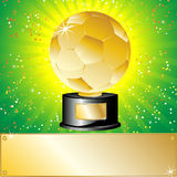 Golden Ball Soccer Trophy Champion. Stock Photos