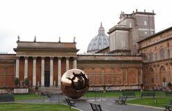 Golden Ball In Vatican Stock Photo