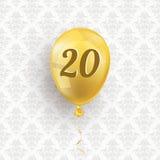 Golden Balloon 20 Ornaments Wallpaper Stock Images