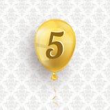 Golden Balloon 5 Ornaments Wallpaper Royalty Free Stock Photo