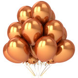 Golden balloons Stock Images