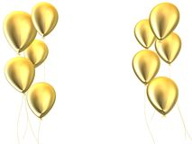 Golden balloons Royalty Free Stock Photography