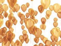 Golden balloons background Royalty Free Stock Photos