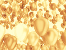 Golden balloons background Royalty Free Stock Photography