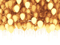 Golden balloons isolated Stock Image