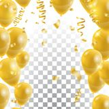 Golden balloons , vector Celebration background template.  Royalty Free Stock Photos