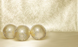 Golden balls Royalty Free Stock Photography