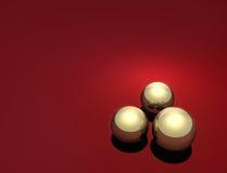 Golden balls Stock Photography