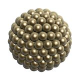 Golden balls. Matrix Stock Images