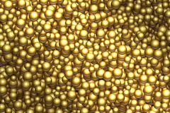Golden balls background. Vector different sizes golden balls texture. Golden balls background. Vector different sizes golden balls texture Royalty Free Stock Photography